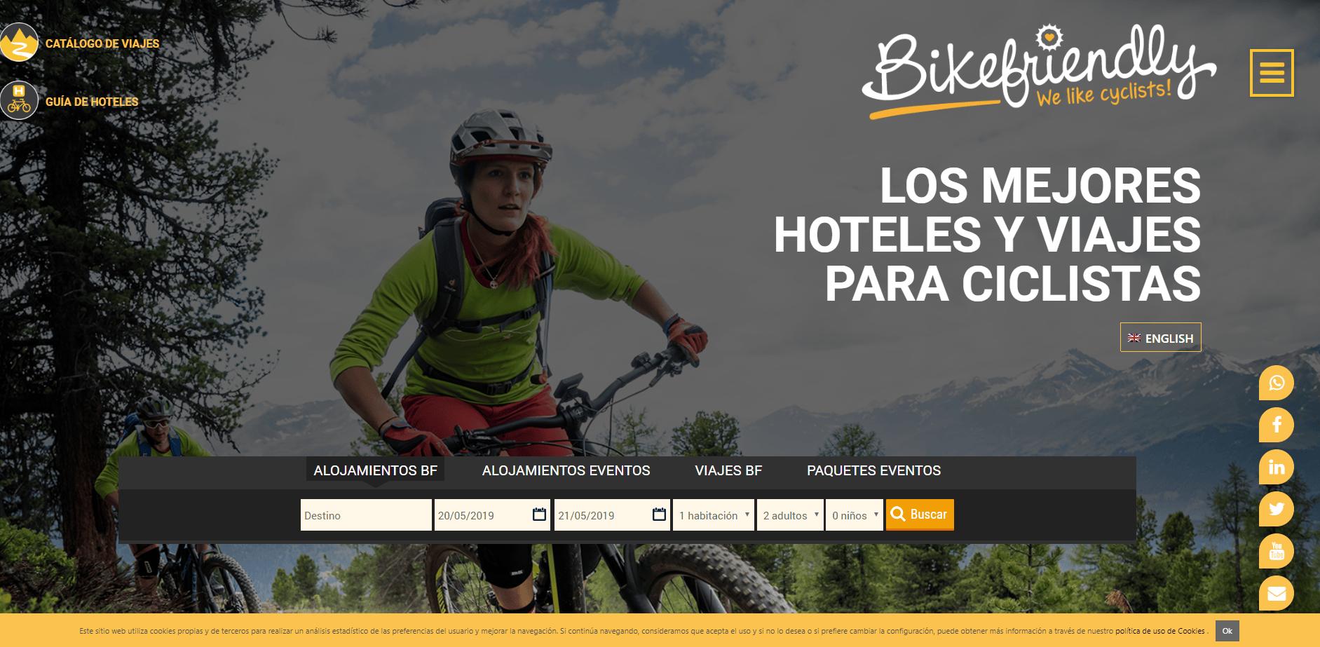 Bikefriendly, los mejores hoteles y viajes para ciclistas en una nueva página web